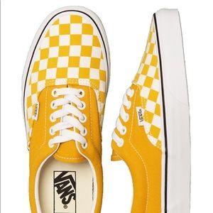 New Vans Era CheckerBoard (Yolk Yellow) Women Shoe